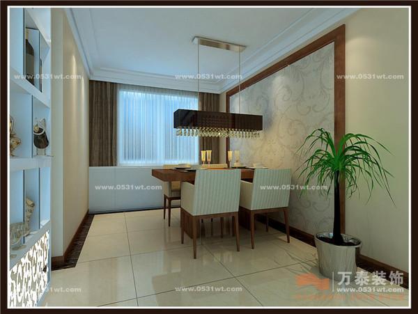 挑设计 舜耕上城简约中式复古装修效果图 130平三室两厅一