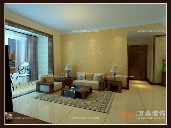 舜耕上城中式复古风格装修案例三室二厅二卫装修案例效果图