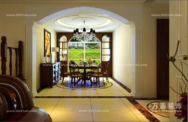 盖佳花园装修效果图 美式装修设计风格打造错层 四室两厅一厨两卫