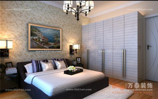 110平米三室两厅欧式卧室装修效果图
