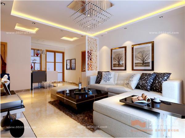 翡翠清河装修设计 102平 两室两厅一厨一卫现代简约装修效果图