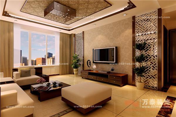 中铁国际城 180平 新中式风格装修效果图