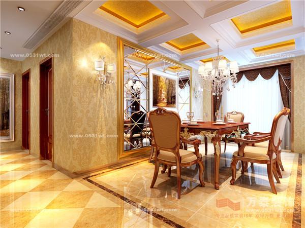 乐陵复式230平欧式风格装修效果图_新房设计案例_万泰