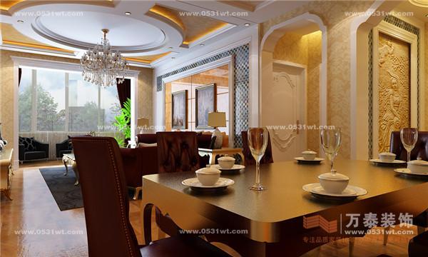 欧式客厅用家具和软装饰来营造整体效果