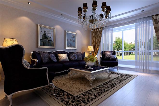 风格装修案例|济南银丰花园160平简欧风格装修效果图