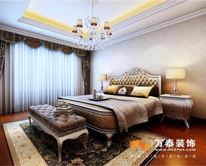 济南恒大帝景320平新古典风格室内装修设计