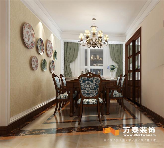 济南东鲁凤凰上郡120平简约欧式风格家庭装修设计案例