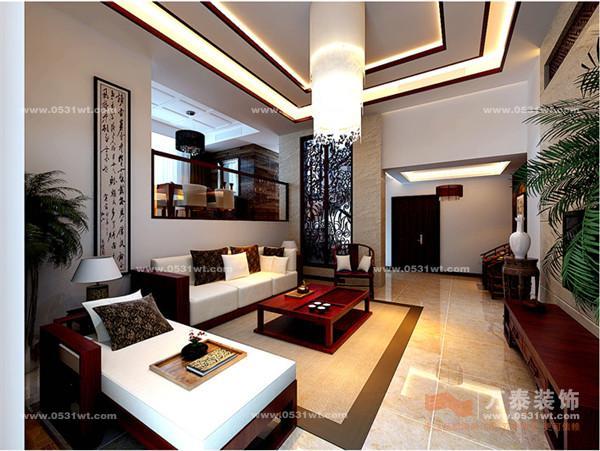 """风格:新中式 室内设计,反映的其实是一种生活方式,是对生活的一种态度。现代中式风格设计,这是现代中国人传承自己这个世界历史最悠、最古老伟大民族文化的一种方式,也成为了室内设计风格中一道亮丽的风景线! 在西方设计界流传着一个观点:""""没有中国元素,就是没有贵气""""。中式风格可见一斑……"""