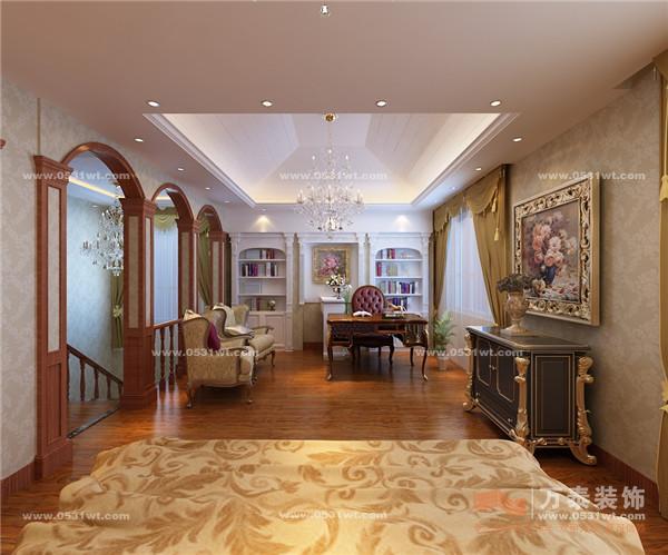 客厅影视墙大理石石材背景突破以往欧式沉稳的色彩
