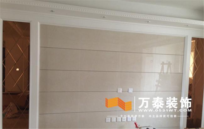 影视墙的施工现场:   施工现场欣赏完了