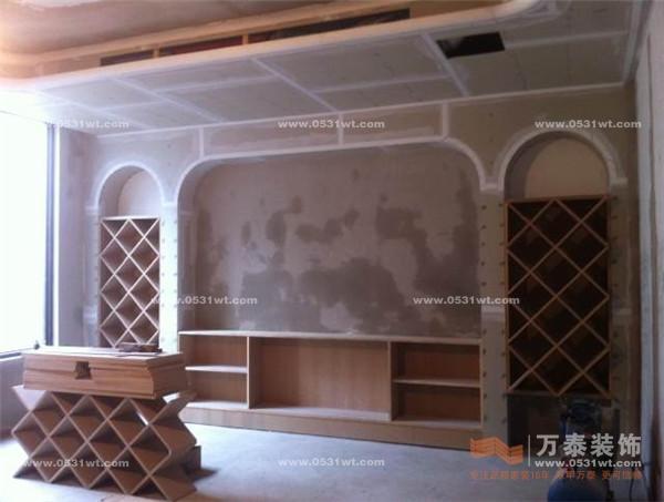 影视背景墙 别墅 新中式风格