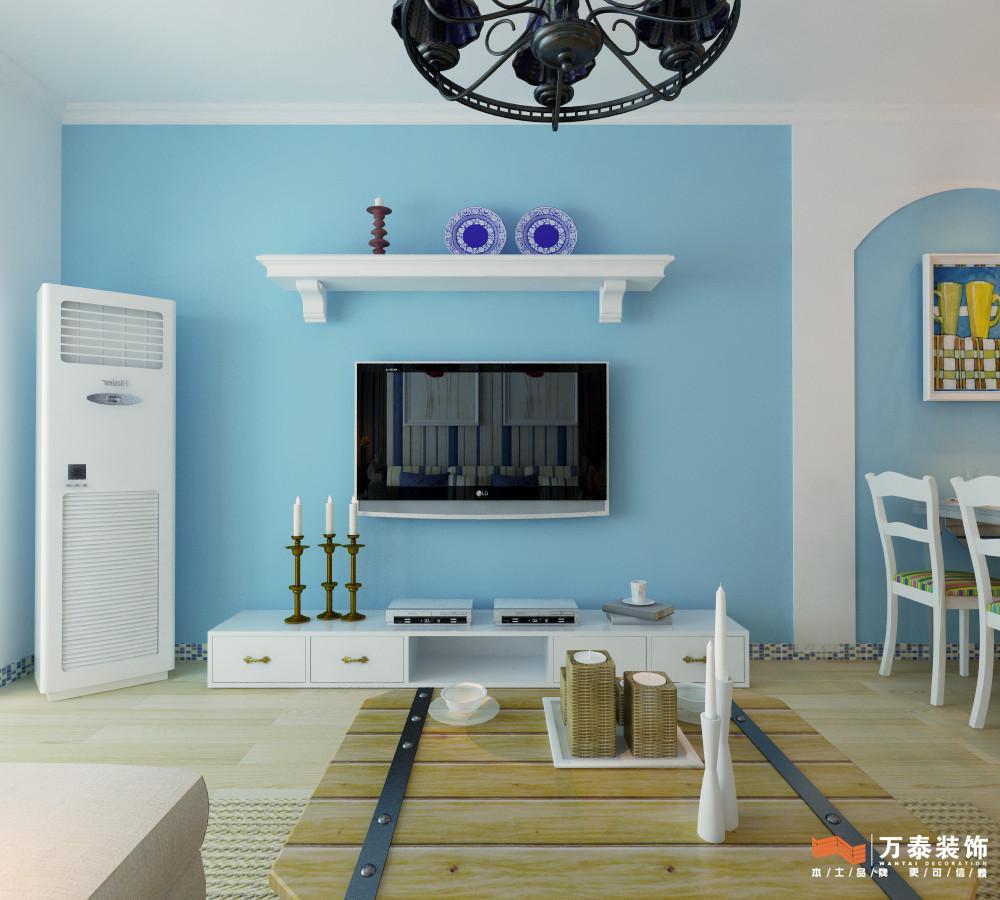 小区:泉景天沅 鑫苑 户型:两室两厅 风格:地中海 基础装修预算