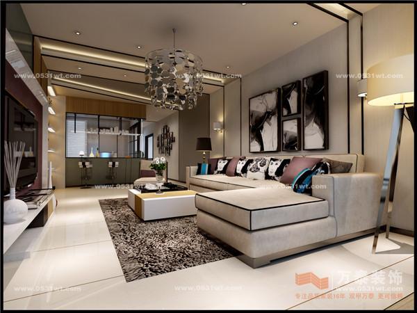 港式现代-150平米三居室装修设计;