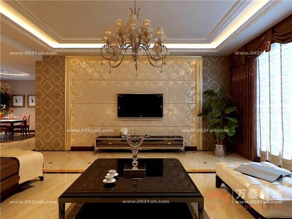 欧式客厅木地板的效果图