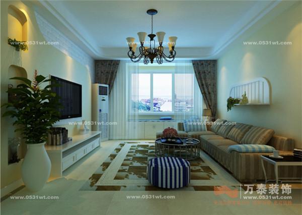 中海国际装修效果图 107米三室两厅 现代简约风格 设计师案例 万泰装饰