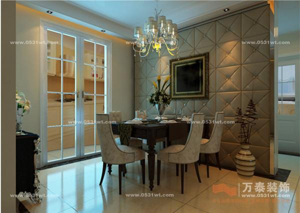 綠地盧浮宮館144平三室兩廳裝修效果圖_設計師案例