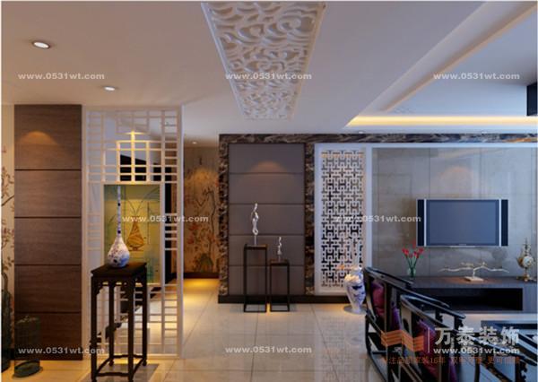 济南绿地卢浮宫馆装修效果图 三室两厅144平