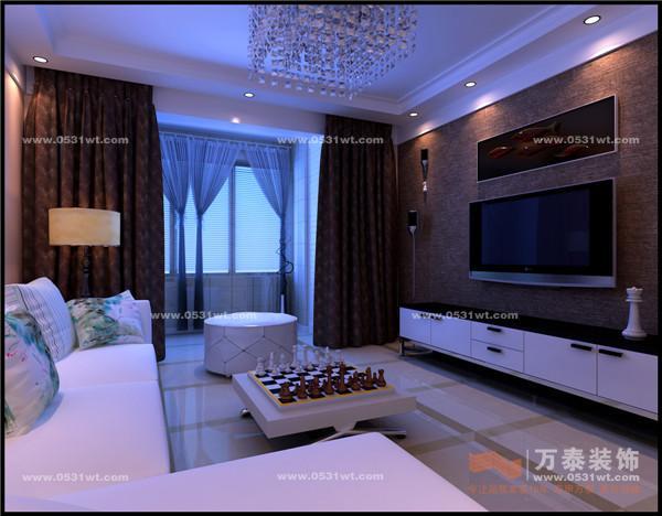 户型:两室两厅   面积:98平方   风格:现代简约   济南家装设计