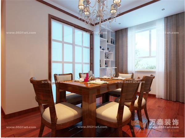 四建美林苑装修效果图 三室两厅一厨一卫现代中式装修风格 4万半包打高清图片