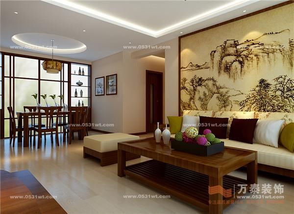 御景城装修效果图 三室两厅新中式装修风格 4.2万打造135平温馨家园