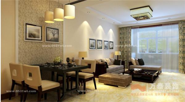 128平米三室两厅装修设计图