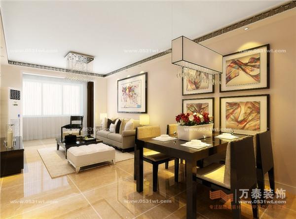 88平米二居室装修设计 高清图片