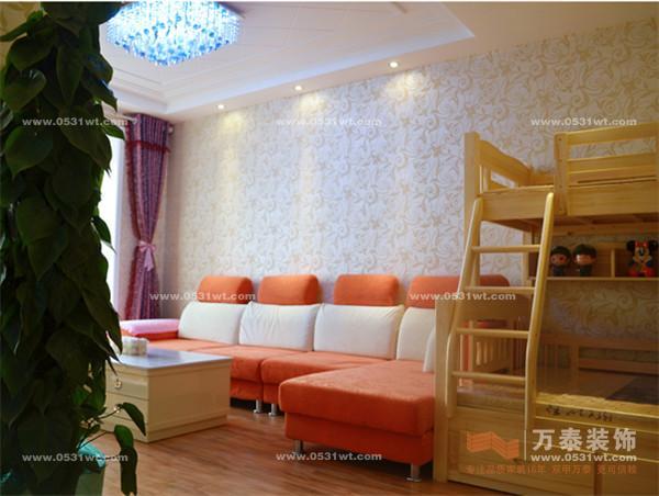 泉景天沅雅苑 70平 一室两厅 现代简约风格装修效果图