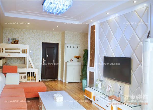 泉景天沅雅苑 70平 一室两厅 现代简约风格装修效果图欣赏