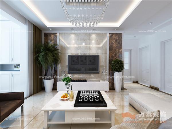 欣赏 113平 三室两厅一卫 现代简约风格装修设计高清图片