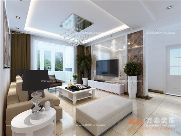 欣赏 113平 三室两厅一卫 现代简约风格装修设计