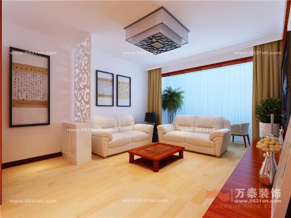 宿舍装修设计 85平 简约中式风格装修效果图 室内装修欣赏