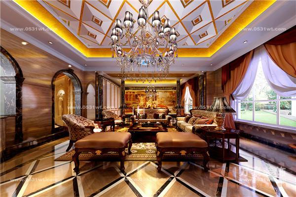 都国际城750平米 奢华欧式装修效果图 设计师案例 万泰装饰