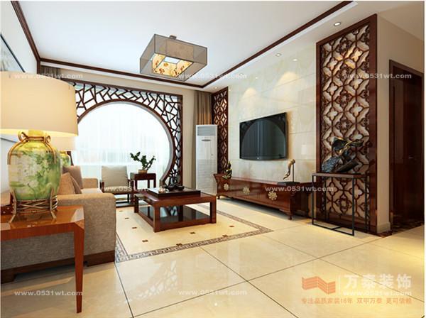 泉景天沅·雅園 兩居室 105平 簡約中式裝修效果圖欣賞