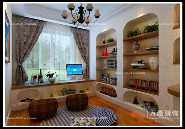 海国际107 三室两厅一卫小美式风格装修效果图高清图片