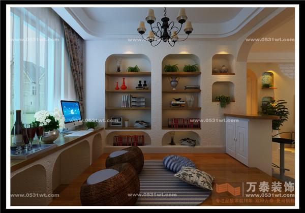三室两厅一卫小美式风格装修效果图