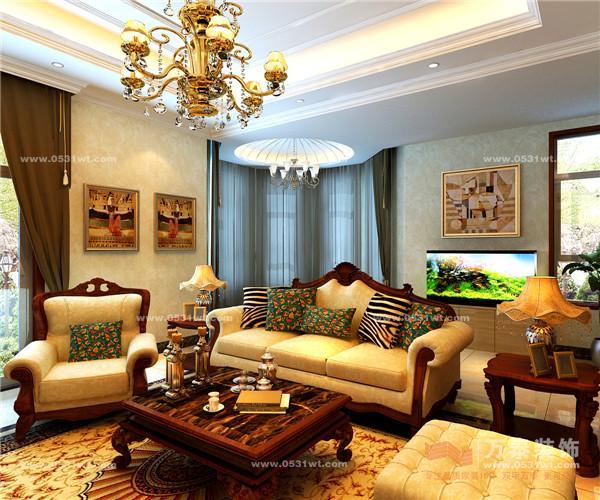 简欧式,装饰造型利用清油木制工艺及大理石等材质来表现,顶面通过石膏