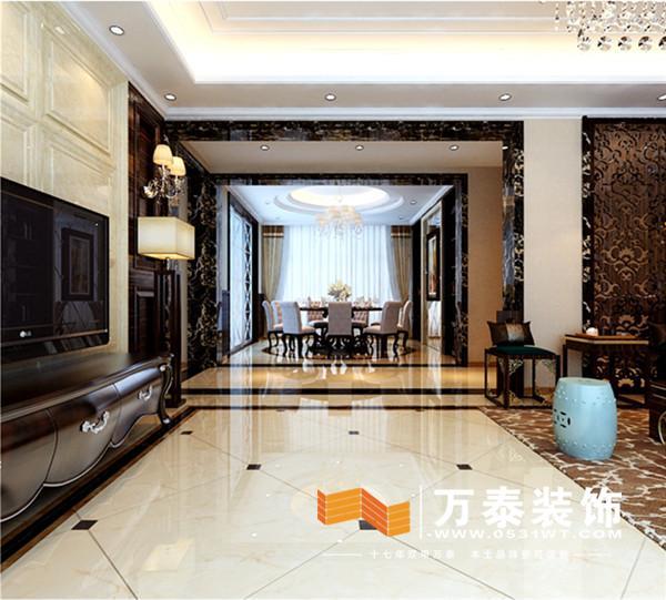 长清御龙湾新中式装修效果图 长清御龙湾联排别墅新中式装修效果图高清图片