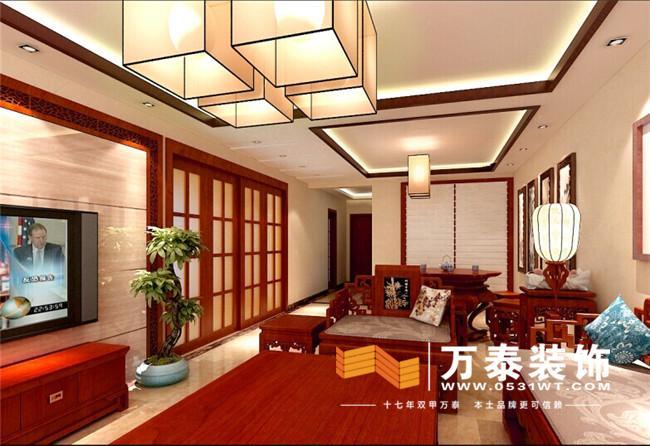 济南新世纪阳光花园新中式装修|欧式新古典装修效果图