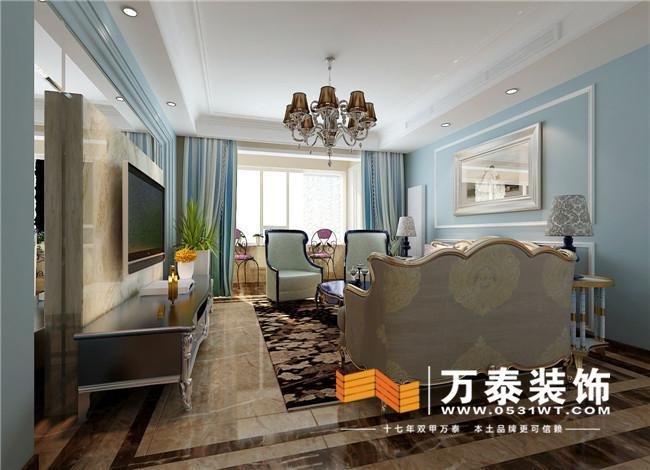豪庭155平装修效果图丨名士豪庭简欧风格装修效果