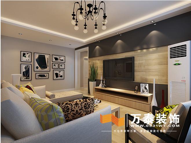 客厅装修效果图: 影视墙
