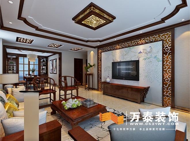 石膏吊顶装修效果图-挑设计 东城逸家简约中式风格装修效果图丨东城