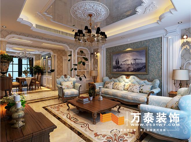 济南海尔绿城玫瑰园装修效果图 济南海尔绿城玫瑰园新古典主义装修效