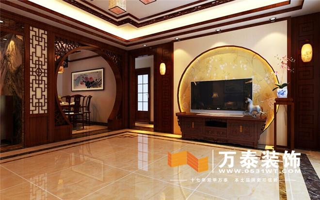 世家140平中式风格装修效果图丨水岸世家浓郁中国