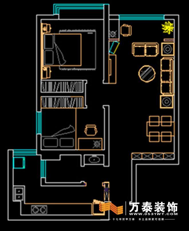 高级设计师设计一楼平面图结构