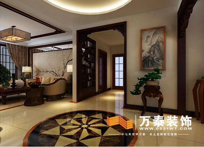济南奥林逸城新中式风格装修效果图 济南奥林逸城160