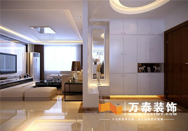 挑设计 名士豪庭87平现代简约风格装修效果图与实景图对比