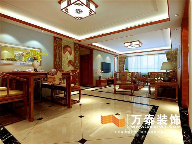 实木线条的利用让在结合壁纸沙发墙丰富有层次