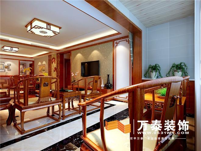 实木线条的利用让在结合壁纸沙发墙丰富有层次   阳台的装修效果图