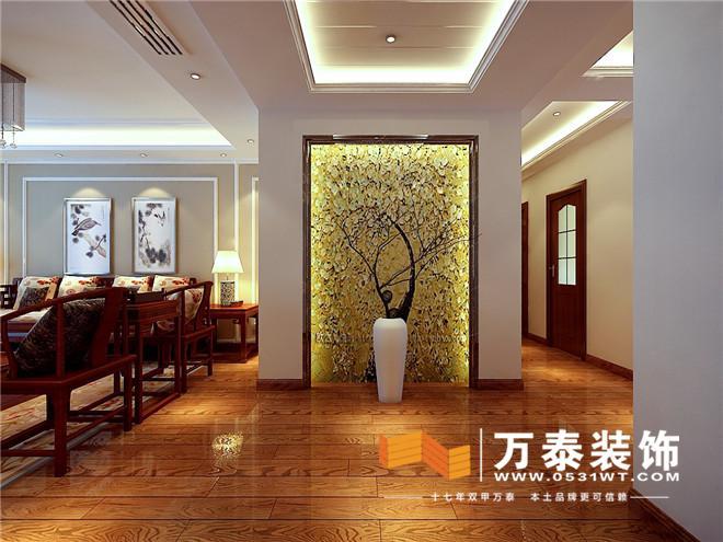 济南绿城百合新中式风格装修效果图 济南绿城百合170