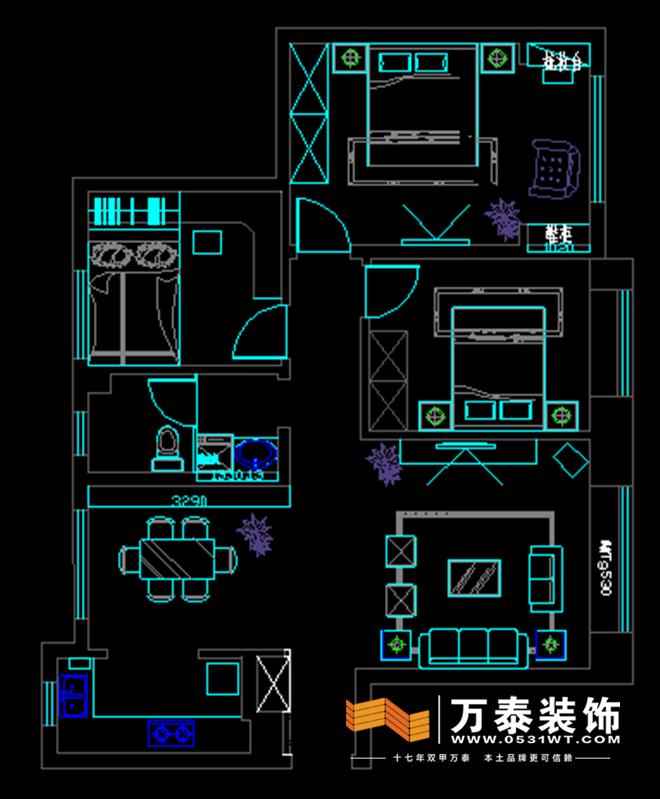 济南中海国际社区b4区现代简约风格装修效果图|济南